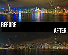 Before and after Earth Hour