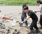 Students hardly move on the mudflat!
