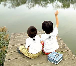 Kids in Mai Po / ©: Rubin Chua / WWF-Hong Kong